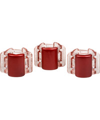 Linziclip Malý skřipec MINI 3 ks - perleťově vínový