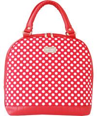 Dara bags Červenobílá kabelka Sweet Angel Bell Big no. 477 MuchoMůůůrka
