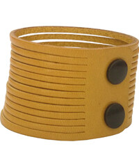 Wildskin Kožený náramek Stripes Yellow