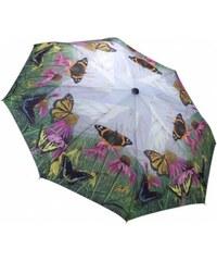 Blooming Brollies Dámský skládací plně automatický deštník The Butterfly Mountain GBFBM