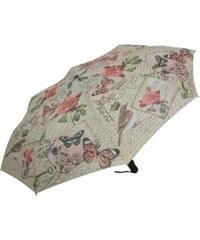 Blooming Brollies Dámský skládací plně automatický deštník Coynes Modern Vintage Butterfly COFMVBY
