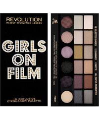 Makeup Revolution Limitovaná paletka 18 očních stínů Girls On Film 13 g