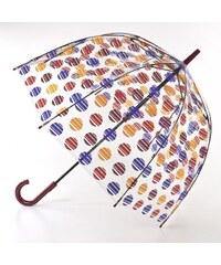 Fulton Dámský průhledný holový deštník Birdcage 2 Brushed Spot L042-6