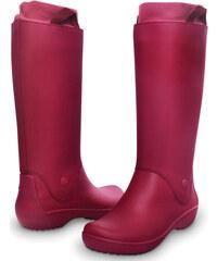 Crocs Dámské holínky RainFloe Boot Pomegranate/Pomegranate 12424-6D9