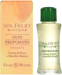 Frais Monde Parfémovaný olej Broskev a bílý mošus (Spa Fruit Peach And White Musk Perfumed Oil) 10 ml