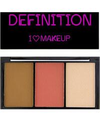 Makeup Revolution Konturovací a rozjasňovací paletka I LOVE MAKEUP (I Heart Definition) 11 g