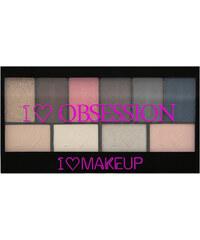 Makeup Revolution Paletka 10 očních stínů Paříž I LOVE MAKEUP (Obsession Palette Palette Paris) 17 g