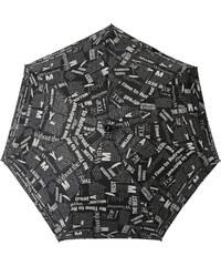 s.Oliver Dámský skládací mechanický deštník Dynamic Good News - černý 710165SO18