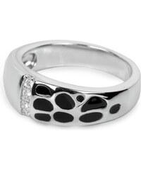 Silver Cat Stříbrný prsten s krystaly SC010
