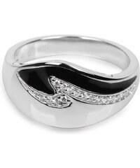 Silver Cat Stříbrný prsten s krystaly SC034