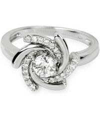 Silver Cat Stříbrný prsten s krystaly SC040