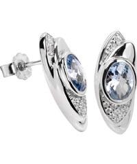 Silver Cat Stříbrné náušnice s krystaly SC057