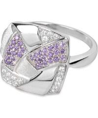 Silver Cat Stříbrný prsten s krystaly SC058