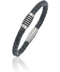 Boccia Titanium Pánský kožený náramek 0347-05