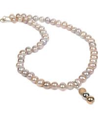 JwL Jewellery Náhrdelník z růžových perel s přívěskem JL0053