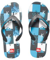 Quiksilver Pánské žabky Molokai Checkmate Black/Blue/White AQYL100059-XKBW