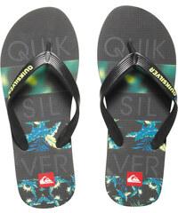 Quiksilver Pánské žabky Molokai Art Black/Grey/Green AQYL100062-XKSG