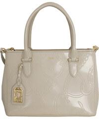 Ralph Lauren Elegantní kožená kabelka Shinny Satchel Cream