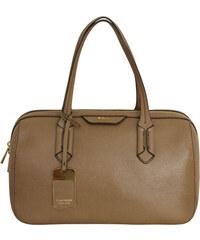 Ralph Lauren Elegantní kožená kabelka Pendridge Satchel hnědá