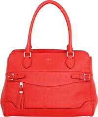 Ralph Lauren Elegantní kožená business kabelka Peterson Shopper Punch červená