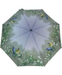 Blooming Brollies Dámský skládací mechanický deštník Artbrollies Blue Birds ARFBB
