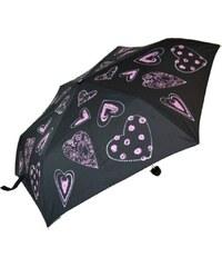 Blooming Brollies Dámský skládací mechanický deštník Everyday Hearts Pink EDFHPI