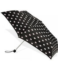 Fulton Dámský skládací deštník Lulu Guinness LG Superslim 2 Lips Print L718