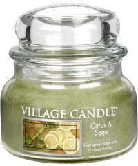 Village Candle Vonná svíčka ve skle Citrusy a šalvěj (Citrus & Sage) 312 g