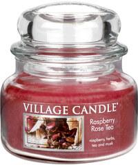 Village Candle Vonná svíčka ve skle Maliny a čajová růže (Raspberry Rose Tea) 312 g