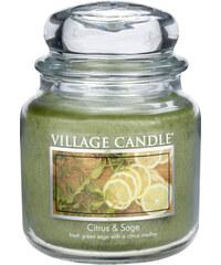 Village Candle Vonná svíčka ve skle Citrusy a šalvěj (Citrus & Sage) 454 g