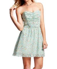Guess Dámské šaty Strapless Tie-Back Ditsy Floral-Print Dress