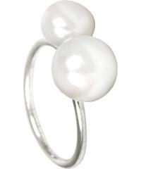 JwL Jewellery Stříbrný prsten s dvojperlou JL0058