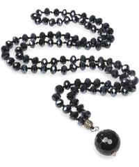 JwL Jewellery Dlouhý náhrdelník s onyxovým přívěskem JL0073