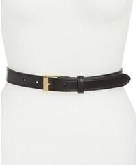 Ralph Lauren Dámský kožený opasek Vachetta Leather Belt Black