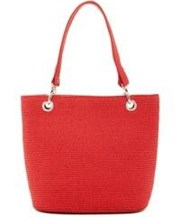 Magid Dámská taška Paper Straw Shopper Tote Red