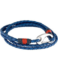 Tommy Hilfiger Modrý kožený náramek TH2700536
