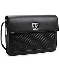Calvin Klein Elegantní kabelka Nicole Woven Triple Compartment Date Bag 36095027 Black