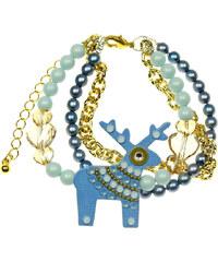 Deers Náramek s modrým jelínkem Milady