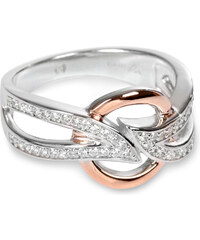 Silver Cat Stříbrný prsten s krystalky SC139