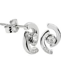 Silver Cat Stříbrné náušnice s krystalem SC114