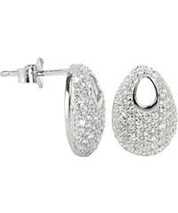 Silver Cat Stříbrné náušnice s krystaly SC108