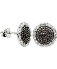 Silver Cat Stříbrné náušnice s krystaly SC144