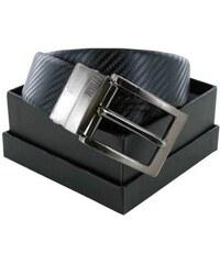 Storm Pánský kožený oboustranný opasek Weston Reversible Belt Black/Black STGIF79