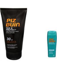 Piz Buin Set sluneční ochrany Ochranné mléko urychlující opalování SPF 30 Tan Protect + Mléko po opalování Zdarma