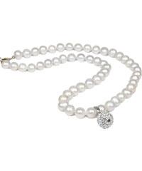 JwL Jewellery Náhrdelník z pravých perel bílé barvy JL0084