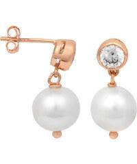 JwL Jewellery Náušnice s pravou bílou perlou JL0096