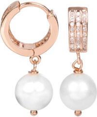 JwL Jewellery Perlové náušnice s bílou pravou perlou JL0100