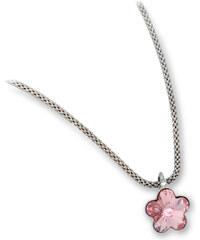 Troli Dívčí stříbrný náhrdelník Flower Light Rose