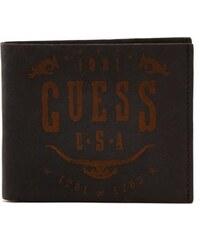 Guess Pánská kožená černá peněženka Show Graphic Double Billfold Black