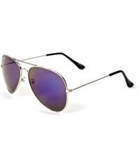 Meatfly Sluneční brýle Tomcat B - Silver/Blue